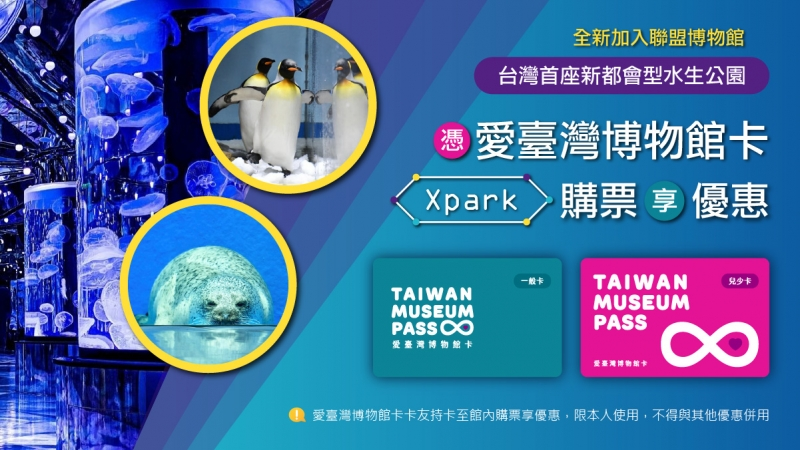 Xpark全新加入愛台灣博物館卡聯盟